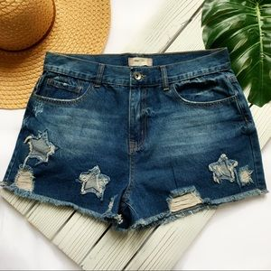 Altar'd State Jean Shorts | Distressed with Stars